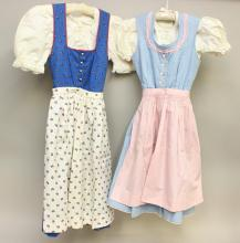 PAIR OF TAGGED GERMAN CHILD'S DRESSES FROM THE MID 1950's-EARLY 1960's.