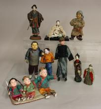 LOT OF VINTAGE DOLLS FROM OTHER COUNTRIES: CHINA, JAPAN, SOVIET UNION.