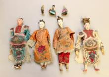 LOT OF VINTAGE CHINESE DOLLS: (4) OPERA AND (3) 2 1/2