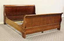 National Mt. Airy Cherry Sleigh Bed