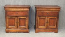 (2) Pair of National Mt. Airy Cherry Bedside Cabinets