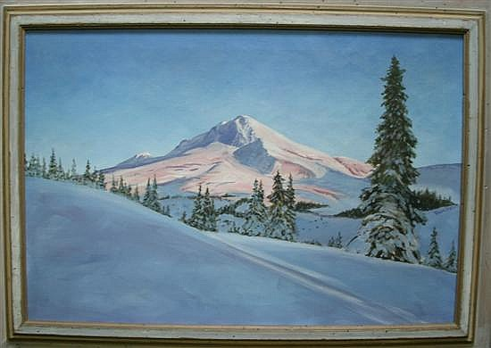 Arthur Hoefler (American 1905-1984) MT. HOOD Oil on canvas