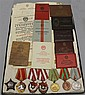 Soviet Union Husband and Wife Medal and Document Grouping