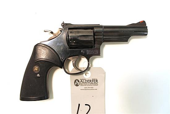 "Smith & Wesson Model 19-5 Combat Magnum double action revolver. Cal. 357 Mag. 4"" bbl. SN ABL9078. Blued finish on metal, after marke..."