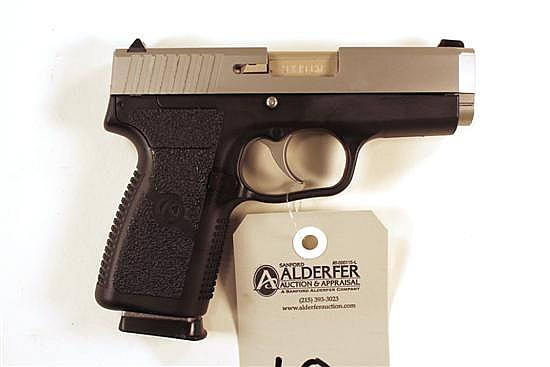 """Kahr Arms CW9 semi-automatic pistol. Cal. 9 mm. 3-1/2"""" bbl. SN EG9220. Stainless steel slide, polymer frame, excellent bore, 1 magaz..."""