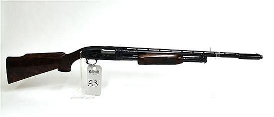 "Winchester Model 12 Skeet pump action shotgun. 28 ga. 22-1/2"" vent rib bbl. 2-7/8"" chamber. Adjustable choke. SN 1351528. High luste..."