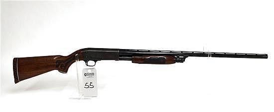 "Ithaca Model 37 Featherlight pump action shotgun. 20 ga. 28"" vent rib bbl. 2-3/4"" chamber. Modified choke. SN 371300380. Blued finis..."
