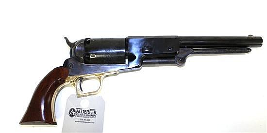 "Colt Model 1847 Walker Signature Series reproduction percussion cap black powder revolver. Cal. 45. 9"" bbl. SN 5633. Blued finish on..."