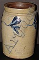 Richard Remmey Salt Glazed Stoneware Decorated Crock