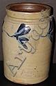 Richard Remmey Salt Glazed Stoneware Decorated Crock