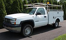 2005 Chevy Silverado 2500 HD Utility Truck, VIN# 1GBHC24U65E343932, V8 6.0 Litre Vortec Engine, Automatic Transmission, 9200# GVWR,...