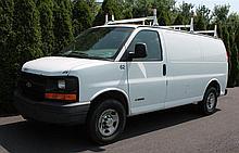2006 Chevy 3500 Cargo Van, VIN# 1GCHG35U761120988, V8 6.0 Litre Vortec Engine, Automatic Transmission, 9600# GVWR, 174,993 Miles, A/...