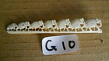 Ivory carved row of elephants was a brooch but th
