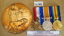 WWI Medals -   THE WHITTER FAMILY AN EMOTIVE FAMIL