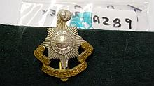 Royal Sussex Regt Bi/metal cap badge with slider