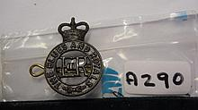Blues and Royals ER II cap badge with lugs