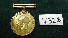 WW I - Bronze British War Medal  7778 Pte I MASILO SANLC