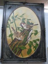 Painting of Birds, signed Jason