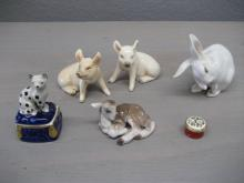 Group of Porcelain Animals