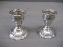 Sterling Silver Weighted Candle holders by National Silver Co.