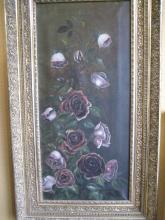Oil on Canvas of Purple Roses