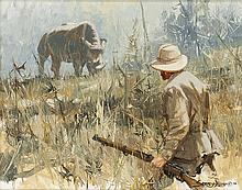 John Seerey-Lester   b. 1946 SAA<br>Rhino Poacher