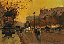 Edouard Cortes | Boulevard de la Madeleine au Crepuscule