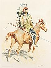Frederic Remington | A Bunch of Buckskins: A Sioux Chief
