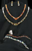 Lot of 6: 2 Necklaces, 2 bracelets 1 pair earings and 1 ring