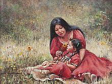 Sandra Harris | Indian Woman with Child