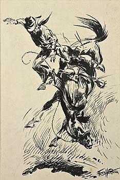 FredHarman Wild Ride 19 1/4 by 13 1/4 inchesInk