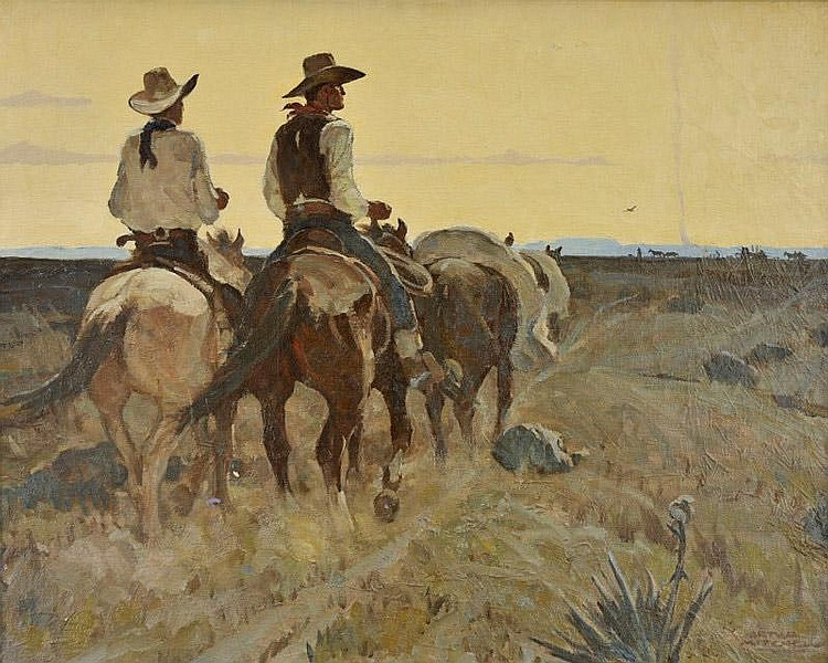 Arthur Mitchell. 1889-1977. Heading for the Chuck