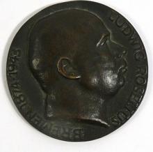 [Bronze, Sculpture] Plaque Ludwig Roselius, founder of HAG Coffee