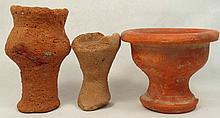 Lot of 3 Roman votive cups