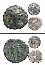 A lot of 3 ancient Roman coins