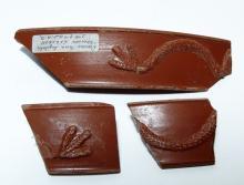 A lot of 3 nice Roman 'Terra Sigillata' fragments from Egypt