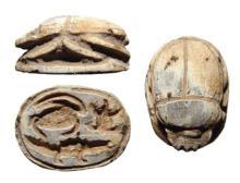 An Egyptian 2nd Intermediate steatite scarab
