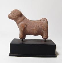 Egyptian terracotta figure of a ram, Roman Period