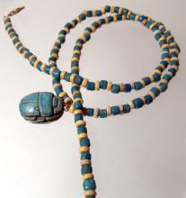 A nice Egyptian faience bead necklace