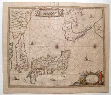 Dutch map of Japan and adjacent islands by Joan Jansson