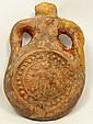 Terracotta pilgrim flask, Coptic Egypt