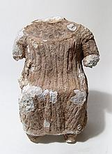 A Sabaean fragmented gypsum figure of a woman