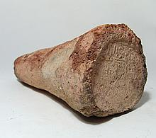 Egyptian terracotta funerary cone of Pabasa
