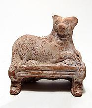 Roman terracotta figure of a Sothic dog