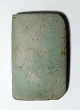 Egyptian light blue-green faience tile