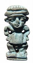 Egyptian faience amulet of Pataikos
