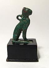 A choice Egyptian seated bronze cat