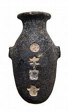 Egyptian stone unguent jar with name of Pharaoh Psamtik II
