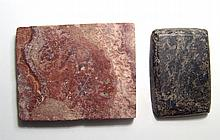 A pair of Egyptian stone grinding palettes