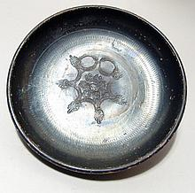 Campanian black ware bowl with impressed design